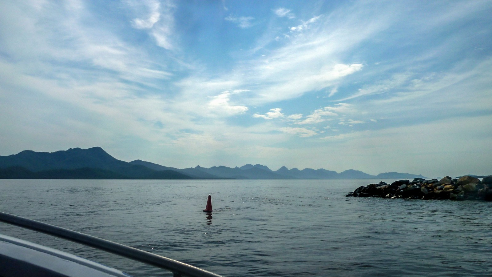 this is a photo of hinchinbrook island taken from the boat ferry