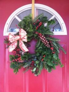christmas wreath handicraft