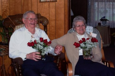 Mémère and Pépère on their last anniversary.