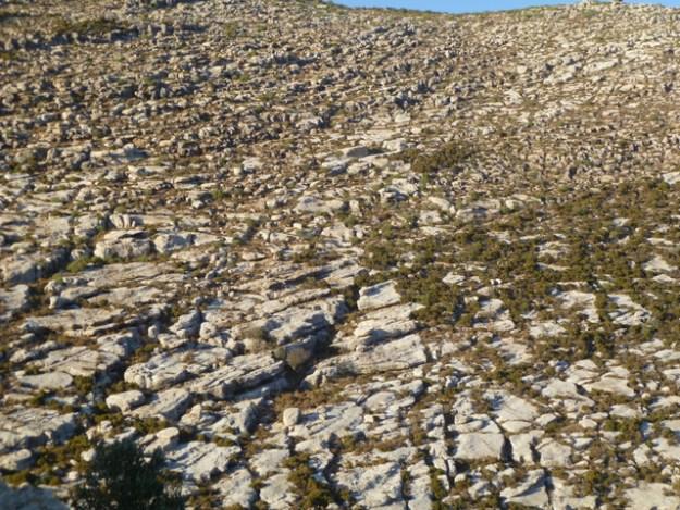 Rocky hillside behind Kastellorizo town