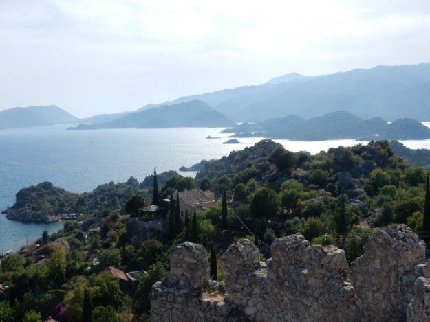 View from the castle at Kaleköy, Kekova