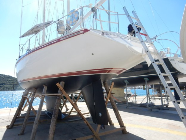 Sabbatical III awaits launch at Kaş Marina