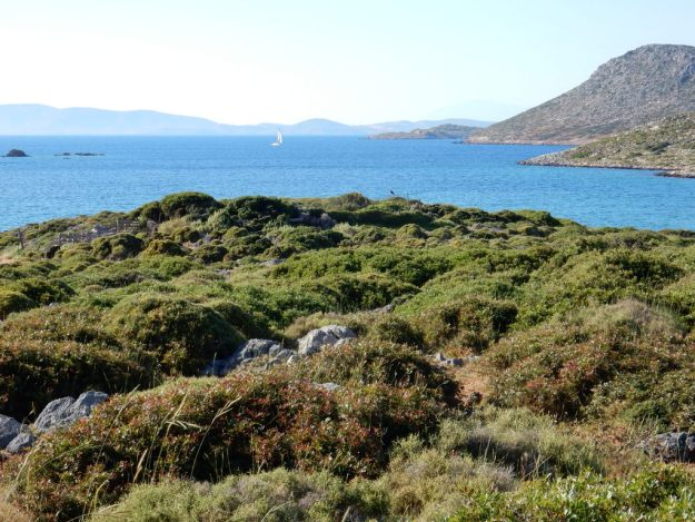 View from Blefouti (Leros Island) towards Lipsi Island