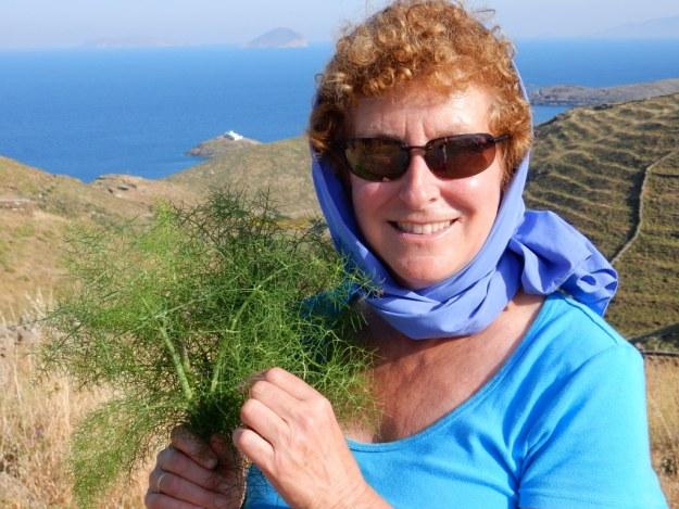 Laura picks wild thyme