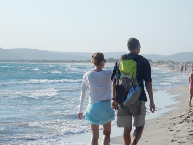 Britta and Michael at Porto Pino