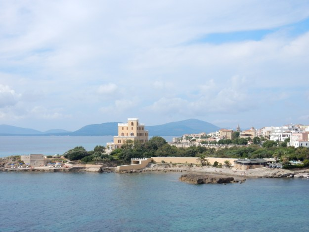 View of Villa Las Tronas and Alghero