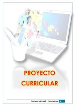Proyecto Curricular de informatica 1er ciclo primaria