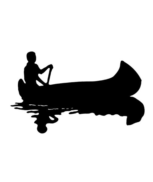 canoe silhouette decals