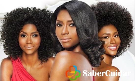 Cabello afro alisado, antes y después