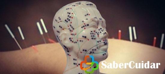 Puntos de acupuntura en la cabeza