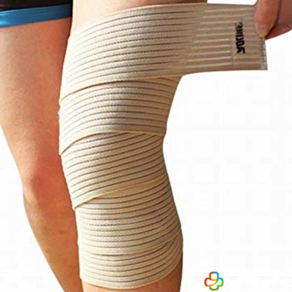 vendaje de rodilla espiral