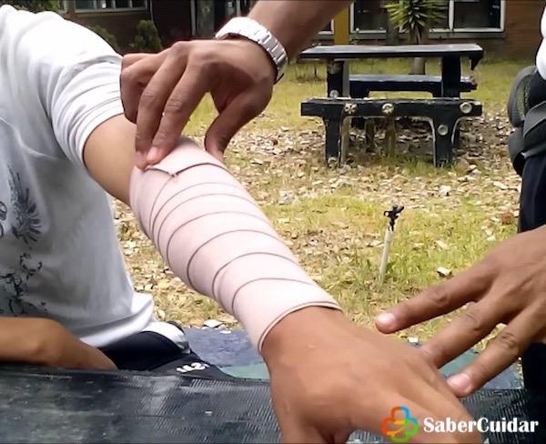 vendaje espiral brazo