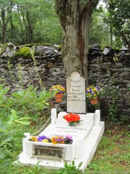 """""""A mi amada Teresa, que murió el 10 de Mayo de 1916 a los 33 años"""""""