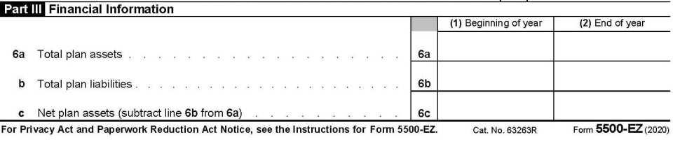 2020 Form 5500 Parts 3