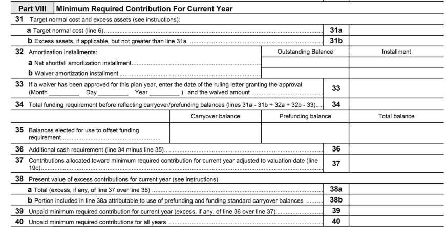 Defined Benefit minimum required contributions