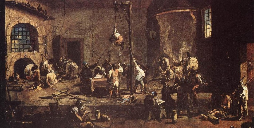 Interrogatorio en la cárcel. Alessandro Magnasco. Óleo sobre lienzo (1710-1720)