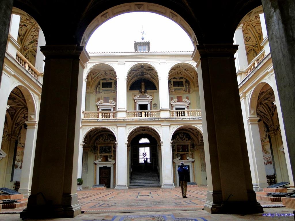 Por el interior del Palacio. Autor, Santiago López-Pastor