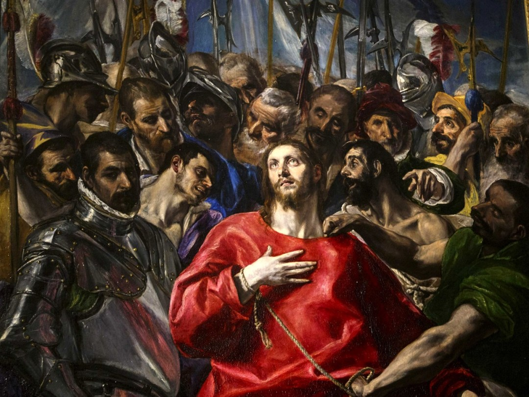 Detalle de El Expolio. Sacristía de la Catedral de Toledo.