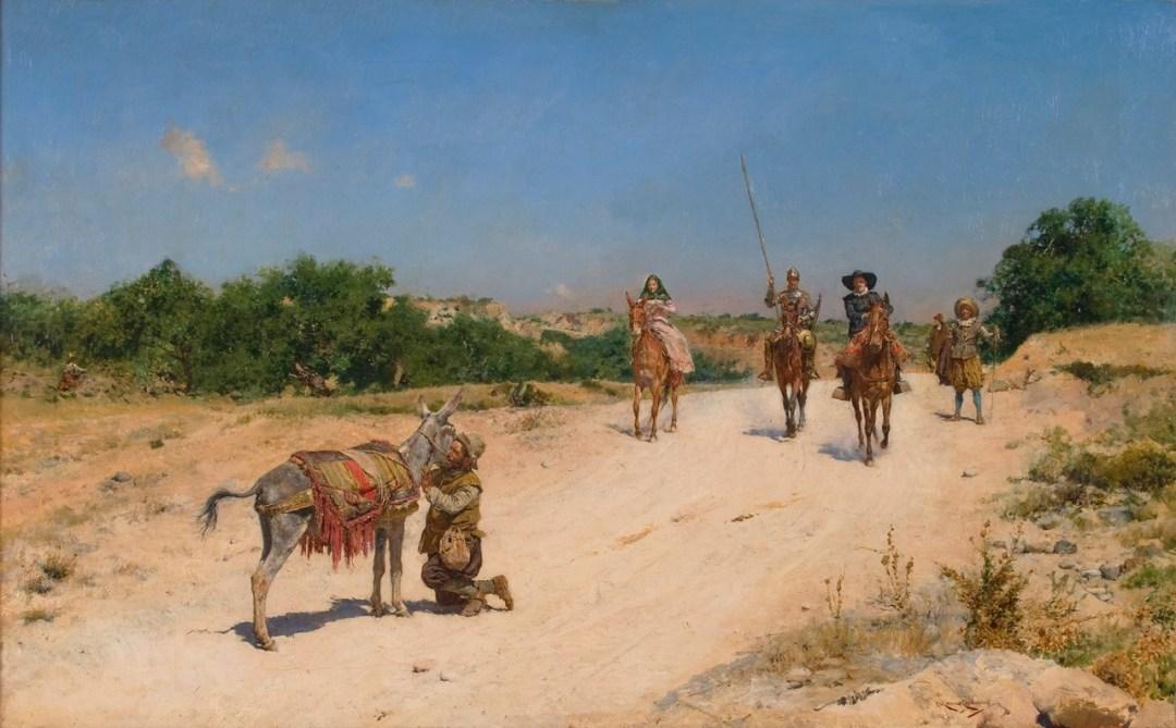 Encuentro de Sancho Panza con el Rucio. Obra de José Moreno Carbonero. 1894. Museo del Prado