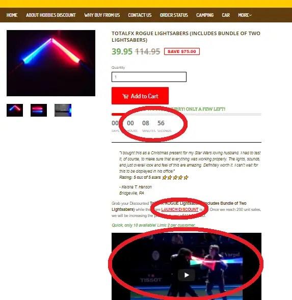 TotalFX Rogue lightsaber
