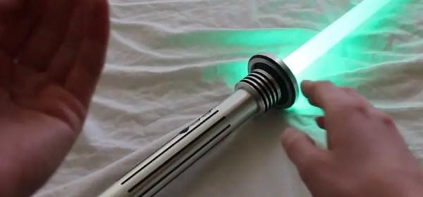 lightsaber tsuba on a Kyberlight Saber