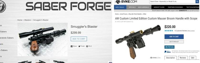 Saberforge Blasters