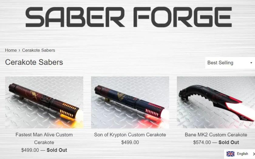 Saberforge Cerakote lightsabers