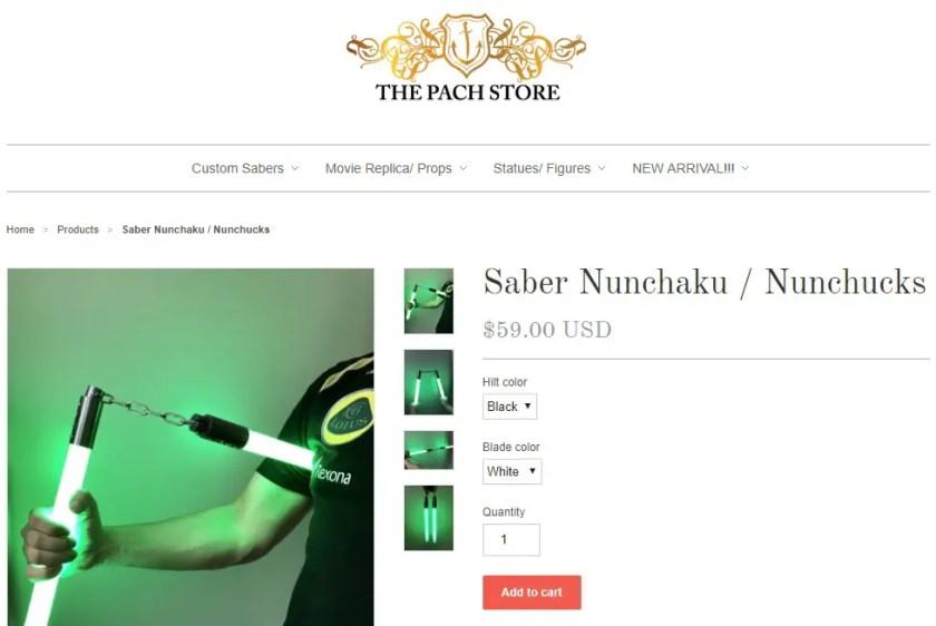 lightsaber nunchucks