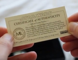 star-wars-master-replicas-certificate-of-authenticity