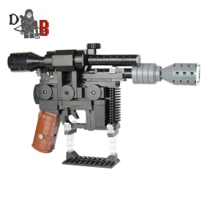 Custom LEGO Han Solo blaster kit by Demonhunter Brick