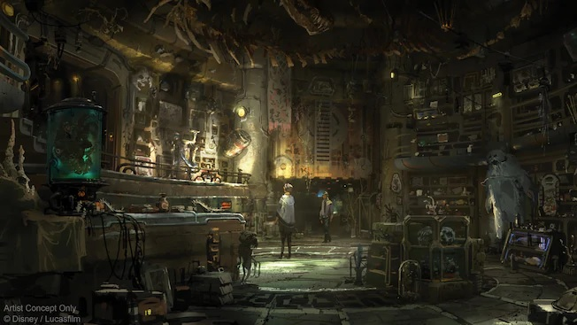 FIRST LOOK at Dok-Ondar's Den of Antiquities: Disney's Legacy Lightsaber Store in Star Wars: Galaxy's Edge