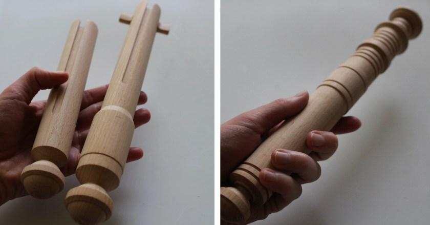 TheronThings Ahsoka Solid Wood Lightsaber set of 2