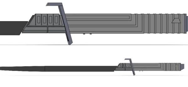 Solo's Hold Darkstar custom saber (Darksaber inspired)