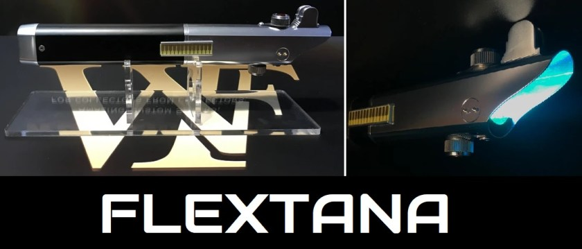 Flextana lightsaber (Graflex katana mashup saber)