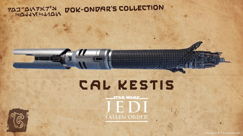 Star Wars Galaxy's Edge Cal Kestis legacy lightsaber