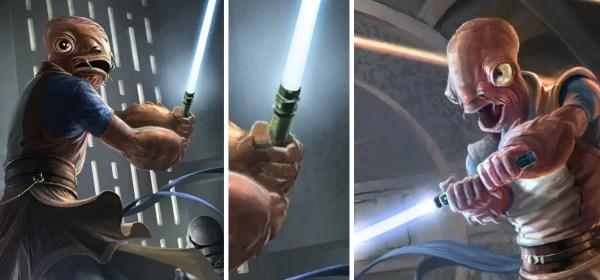 Rune lightsaber (Mon Calamari Jedi)