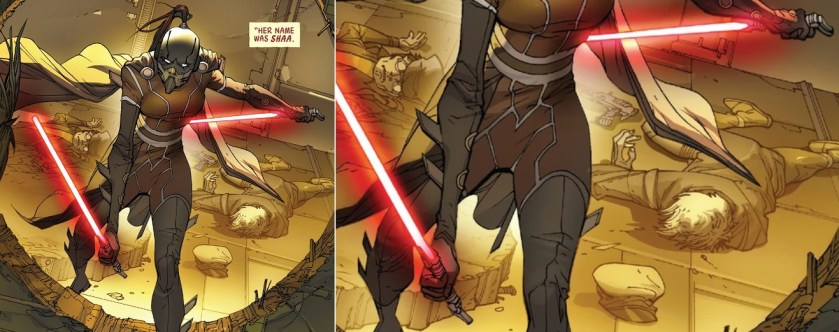 Darth Shaa lightsabers (Sith lightsabers)