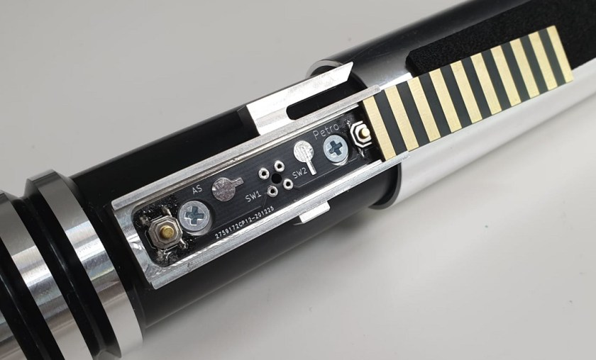 Atom Sabers Petro lightsaber buttons