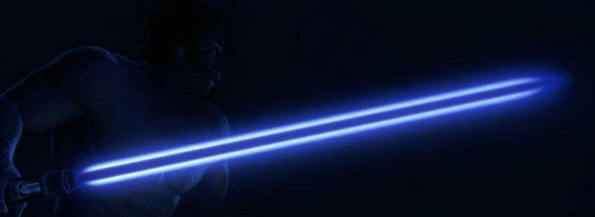 Star Wars: The Old Republic Blue-Cyan-Indigo lightsaber blade