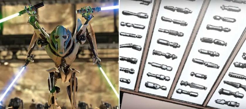 General Grievous lightsaber collection