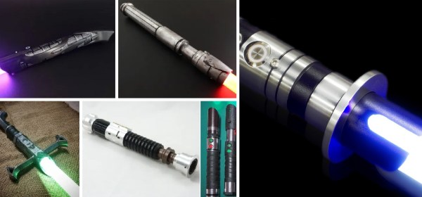 custom lightsabers from various companies