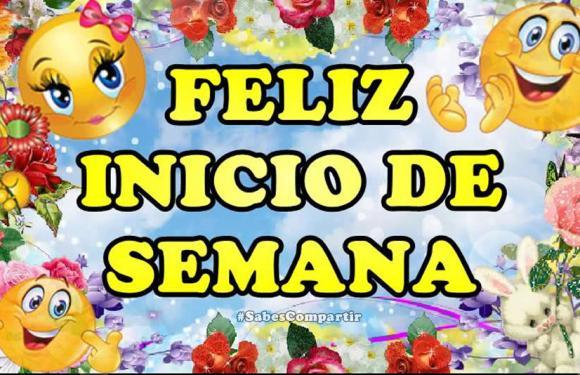 Desear buenos días feliz y bendecido lunes