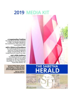 thumbnail of The Sabetha Herald Media Kit 2019