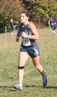 Senior Skylar McAfee maintains her speed during the 3A State Meet on Saturday, October 27, at Rim Rock.