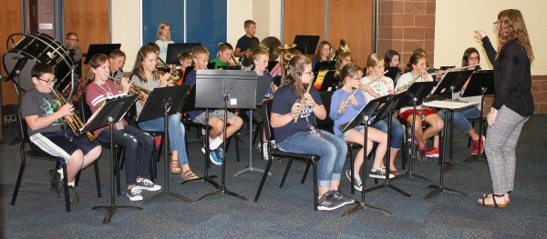 Members of the sixth grade band perform during the sixth grade Grandparents Day on Tuesday, September 25.
