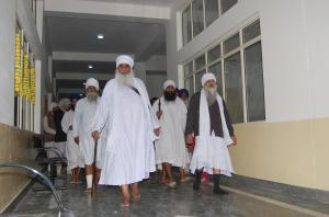 Sant Baba Mann Singh Ji & Sant Baba Mohan Singh Ji at the Hospital in Pehowa - providing free care for all