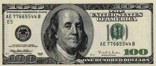 los dólares son de color verde