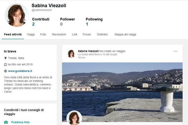 tripadvisor social profilo sabina viezzoli guida della bora trieste