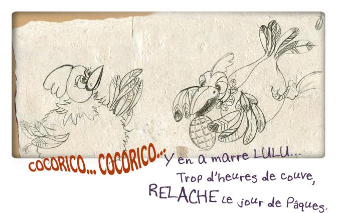 crayonné pour Pâques-humour