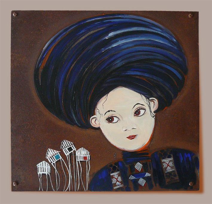 """yao-noir-pilotis- exposition déco d""""art-sabine hautefeuille-street art-galerie d'art"""
